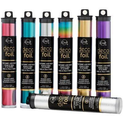 """DECO FOIL Specialty Transfer Sheets 6""""X12"""" 5/Pkg - Various Colour to choose from"""