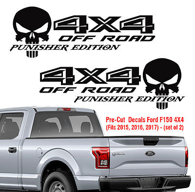 Ford F150 4X4 off road Punisher Decals Truck Stickers Vinyl 2015 2016 2017 Decal
