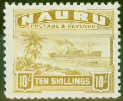 Nauru 1924 10s Yellow SG39B Fine & Fresh Lightly Mtd Mint
