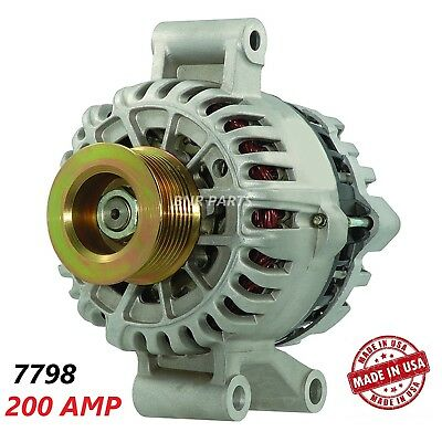 200 AMP 7798 Alternator Ford E-Series Pickup 7.3L Aux Unit NEW High Output HD