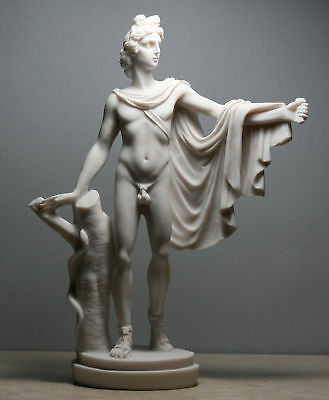 APOLLO Belvedere Greek Roman God of Music Nude Male Cast Marble Statue Sculpture