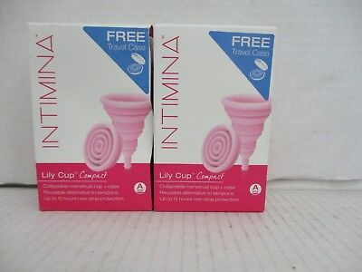 2 Intimina Lilly Cup Compact Size A 1 Collapsible Menstrual Cup+Case Ea De  6610