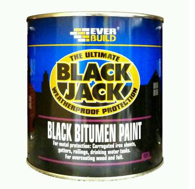Everbuild Ultimate Black Jack Black Bitumen Weatherproof Protection Paint 5l