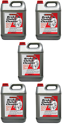 5 x 5L POLYGARD PROFESSIONAL BRAKE & AND CLUTCH PARTS CLEANER DEGREASER (25l)