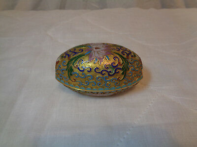 Brass Metal Painted Egg Candle Hand Painted Made in Beijing China, Trinket, Nice
