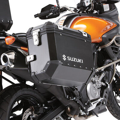 Side Cases, Aluminum, Black, '12-'16 Suzuki Dl650 V-Strom 650, Retail $983.67