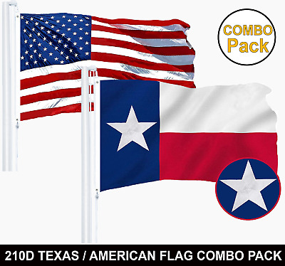 Wholesale LOT | USA 2x3ft Embroidered Flag & Texas 2x3ft Embroidered Flag