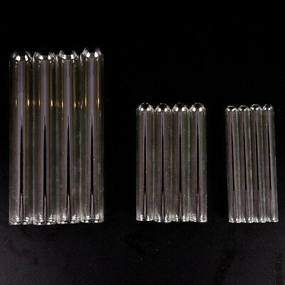 10 Pcs Pyrex Glass Blowing Tubes 4/6/8 Inch Long Thick Wall Test Tube T JM