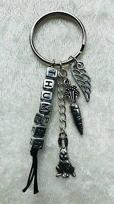Rabbit loss / memorial personalised with name keyring