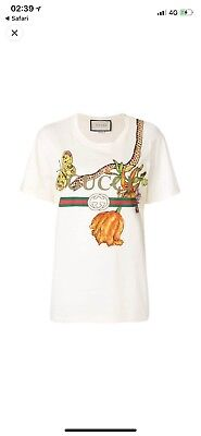 c4fcce8f4b9 AUTHENTIC PRE OWNED Gucci Logo   Floral Printed Jersey T-shirt Size ...