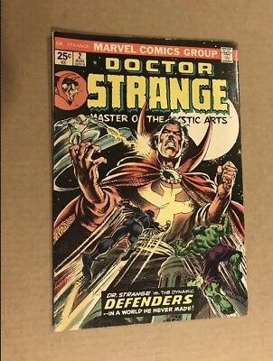 Dr. Strange #2 Comic KEY Issue Featuring The Defenders, Marvel 1974, Bronze Age