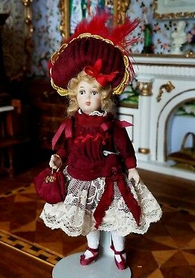 Dollhouse Miniature Artisan Porcelain Antique Repro Bebe Doll #1 1:12