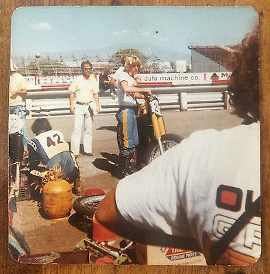 "Rare Bob "" Hurricane"" Hannah Team Yamaha  1977 Photo Snapshot"