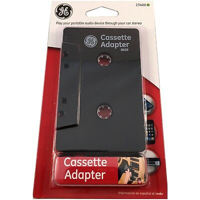 GE Cassette Mini Plug Audio Play Tape Adapter Car Stereo Converter New