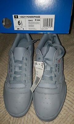 a63d361a99b39 Adidas Yeezy Powerphase Calabasas Grey Size 6.5 DS Black White Cream Bred