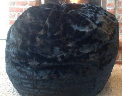 Stupendous Pottery Barn Teen Brown Luxe Faux Fur Beanbag Cover Large Bralicious Painted Fabric Chair Ideas Braliciousco