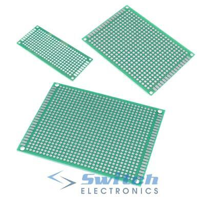Double Sided PCB Printed Circuit Board Breadboard Prototyping Strip Board
