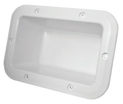 Recessed Boxes Storage White 235mm x 164mm Boat Marine
