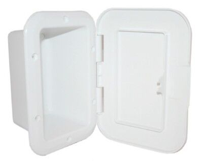 Recessed Boxes Storage With Door White 235mm x 164mm Boat Marine