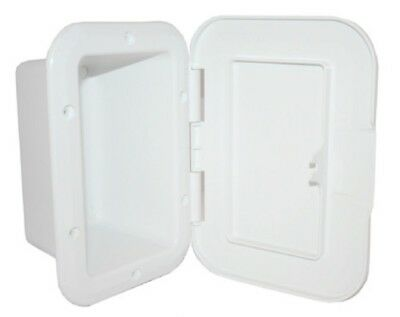 Recessed Boxes Storage With Door White 188mm x 145mm Boat Marine