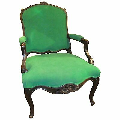 Antique French Louis XV Style Armchair 19th Century