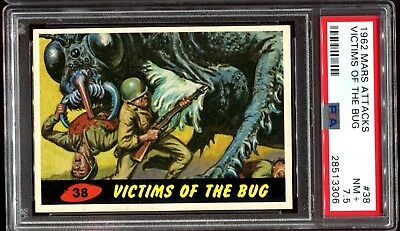 1962 Mars Attacks  #38 VICTIMS OF THE BUG PSA 7.5 NM+ d