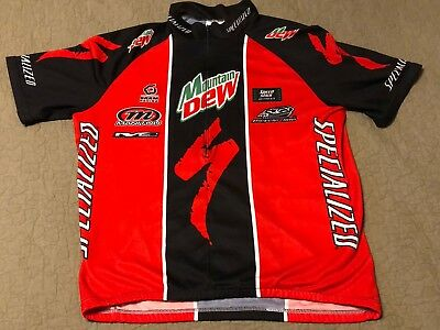 specialized red black mountain dew sponsor cycle cycling bike