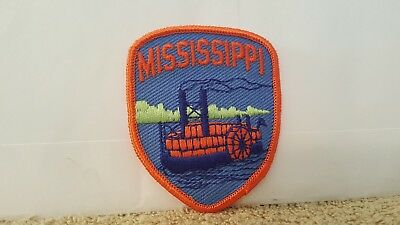 Travel Souvenir Travel Color Patch State of Mississippi 3 x 2 1/2 inches