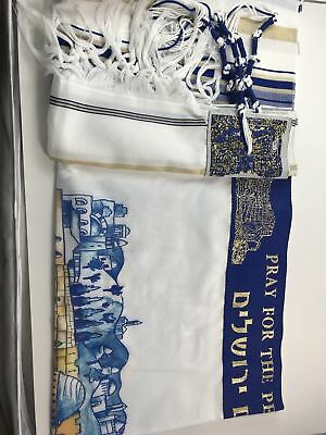Pray For Peace Jerusalem Prayer Shawl Tallit From Israel