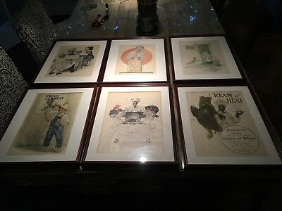 6 Custom Framed Vintage Cream Of Wheat Print Ads