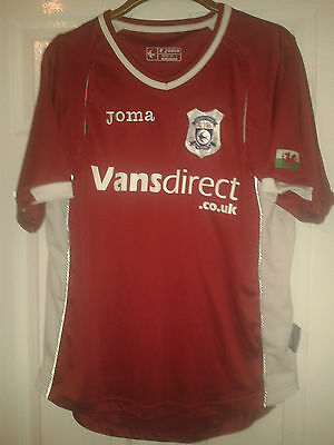 Mens Football Shirt - Cardiff City FC - Away 2008-2009 - Joma - Red - Wales