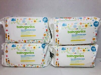 Lot Of 400 Babyganics Baby Wipes Fragrance Free Extra Gentle Neonourish Seed Oil