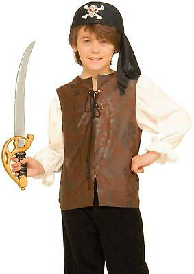 Buccaneer Shirt Caribbean Pirate Fancy Dress Halloween Child Costume Accessory