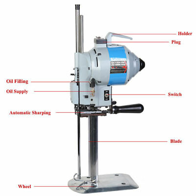"Straight Knife 10"" Cutter Fabric Cloth Cutting Machine Automatic Knife-Sharpen"