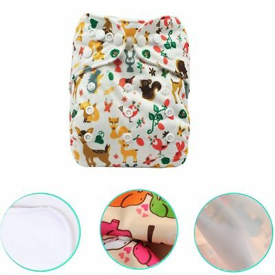 Adjustable Baby Diaper Covers Reusable PUL Double Gussets Cloth Nappy Fit:6-11kg