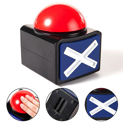 Red Game Answer Buzzer Alarm Button With Sound Light Talent Buzzer