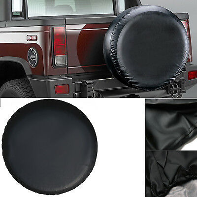 17 inch Black Wheel Cover Rear Spare Tyre Tire Cover for Jeep Wrangler Van Car