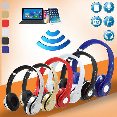 Wireless Headphones Bluetooth Headset Noise Cancelling Over Ear W/ Microphone