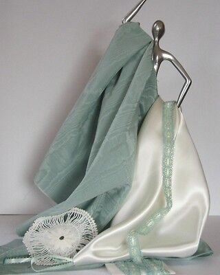 Seafoam Water Silk and White Satin To Doll Up Your Dolly