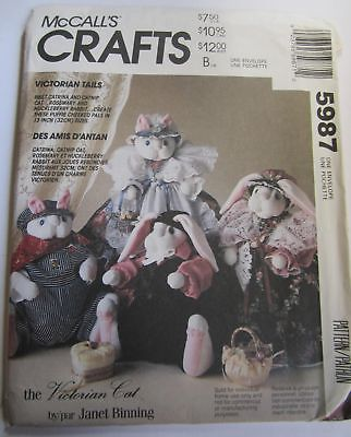 Uncut McCall's Victorian Tails From 1992 To Build and Dress Cats and Rabbits