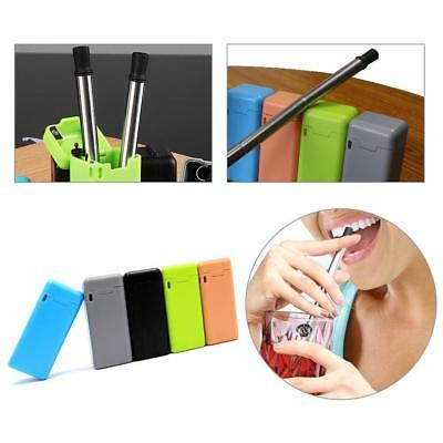 Collapsible Reusable Portable Stainless Straw Travel Outdoor Household Useful
