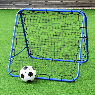 Double-sided Football Pro Rebounder Net Training Adjustable Kickback Goal New