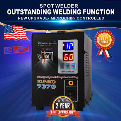 Hand Held SUNKKO 737G Battery Spot Welder with Pulse & Current Display