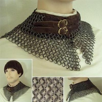 CHAINMAIL Medieval COLLER Mild Steel 10 MM BUTTED RING