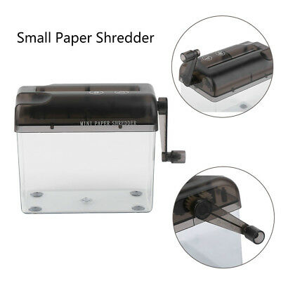Mini ABS Cutting Desktop Paper Shredder Practical Garbage Can For Crushing Paper