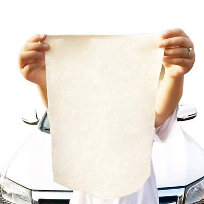 Natural Real Chamois Leather Cloth Shammy Car Clean Polish Glass Chrome Cleaning