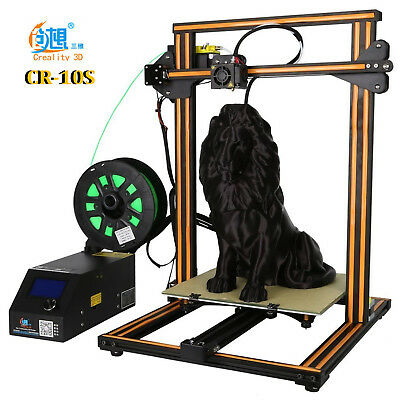 100% original Creality CR-10S 3D Drucker 300x300x400mm/Dual-Z/Fil. Sensor Orange
