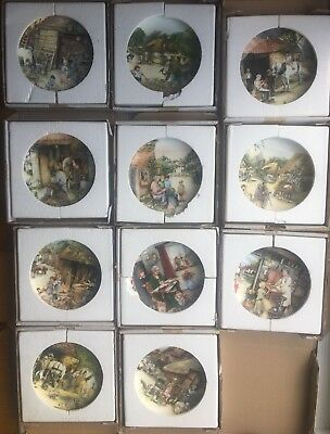 11 Bradford Exchange Royal Doulton Old Country Crafts Plates Boxed & Certs