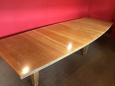 13ft MAGNIFICENT OAK BOARDROOM/DINING TABLE PRO FRENCH POLISHED