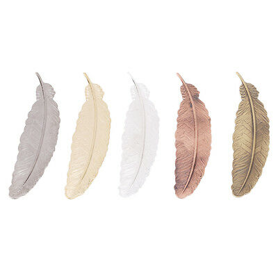 Metal Bookmarks Book Markers Feather Shaped Plated Gift For Readers N7